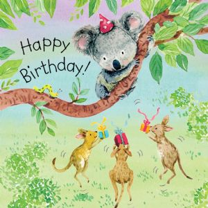 TOT7  Gender Neutral Birthday Card Koala
